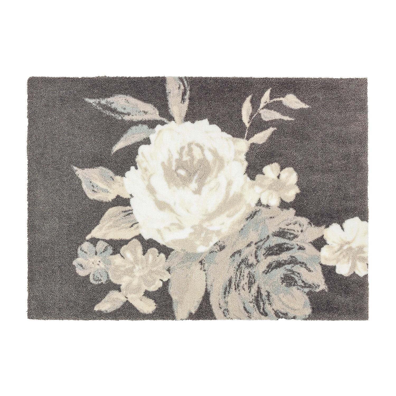 Deurmat Brooklyn Rose - kunstvezel - grijs/crèmekleurig - 50 x70 cm, Schöner Wohnen Kollektion