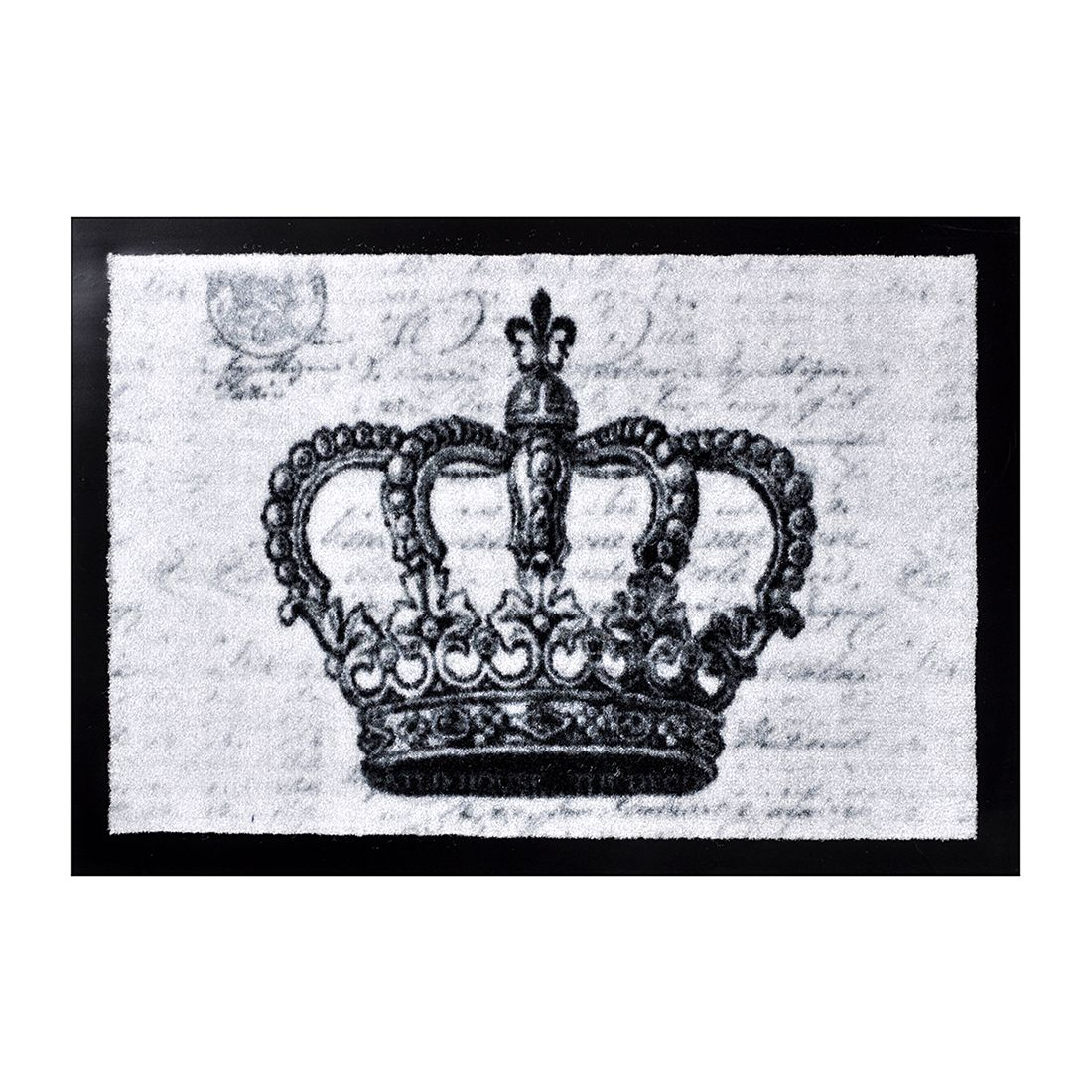 Deurmat Printy Crown - grijs, Hanse Home Collection