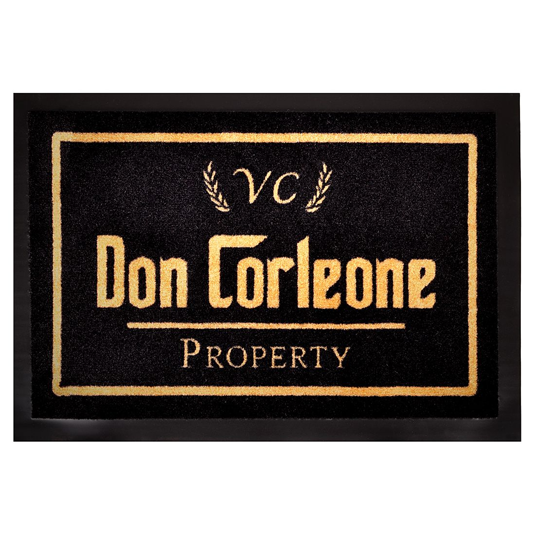 Deurmat Printy Don Corleone - zwart/goud, Hanse Home Collection