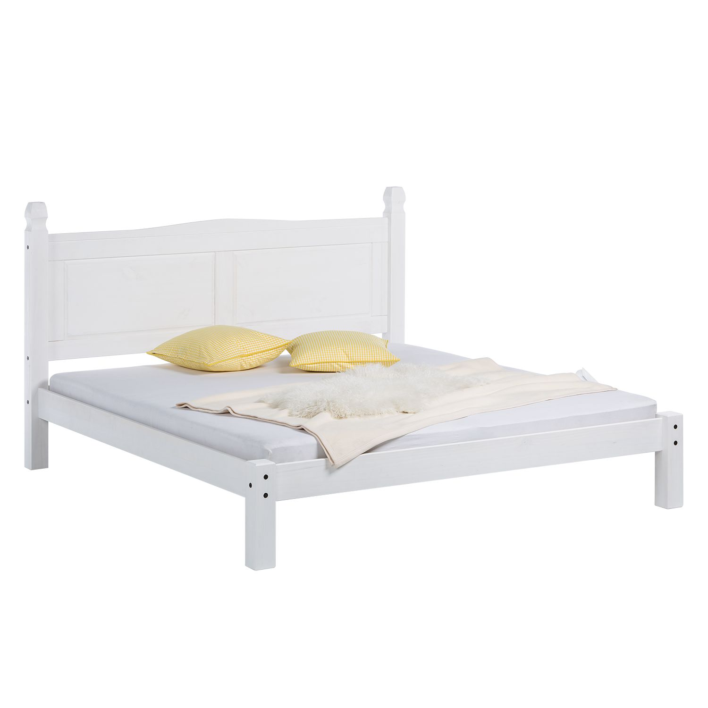 Lit futon Finca Rustica 180 - Pin massif Vernis blanc, Maison Belfort