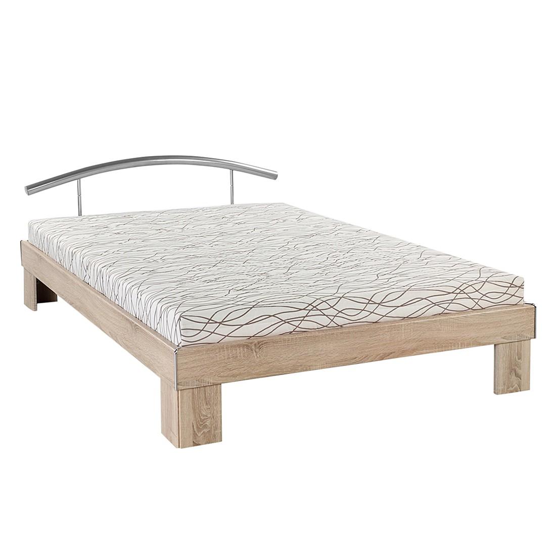 Lit futon Lennox - Imitation chêne brut de sciage, mooved