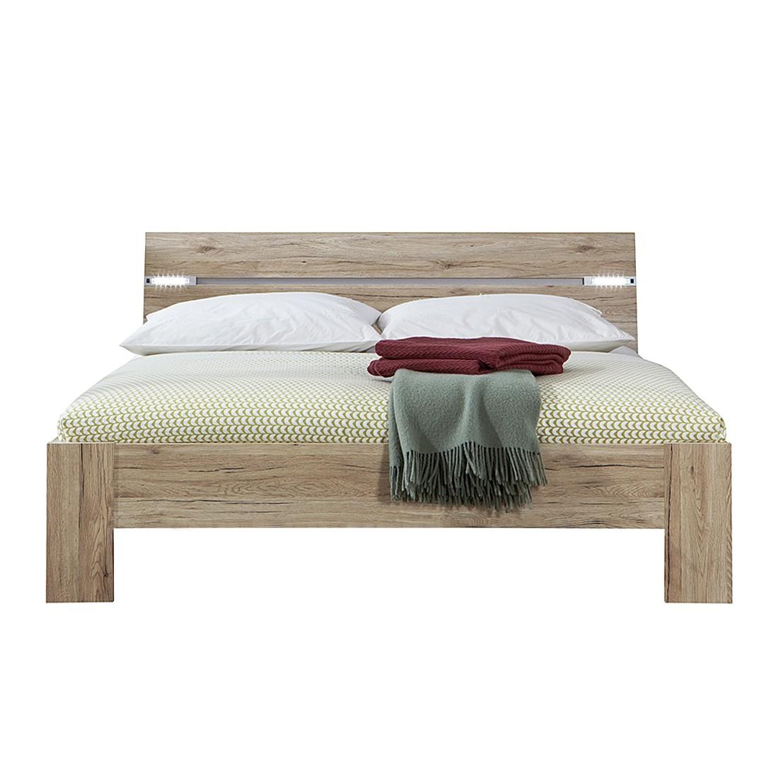 Bed Saxman - 180 x 200cm - San Remo eikenhouten look, Wimex