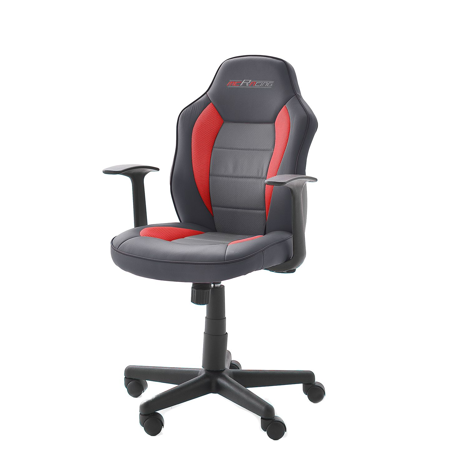 Gamestoel mcRacer III - kunstleer/nylon - zwart/rood, home24 office