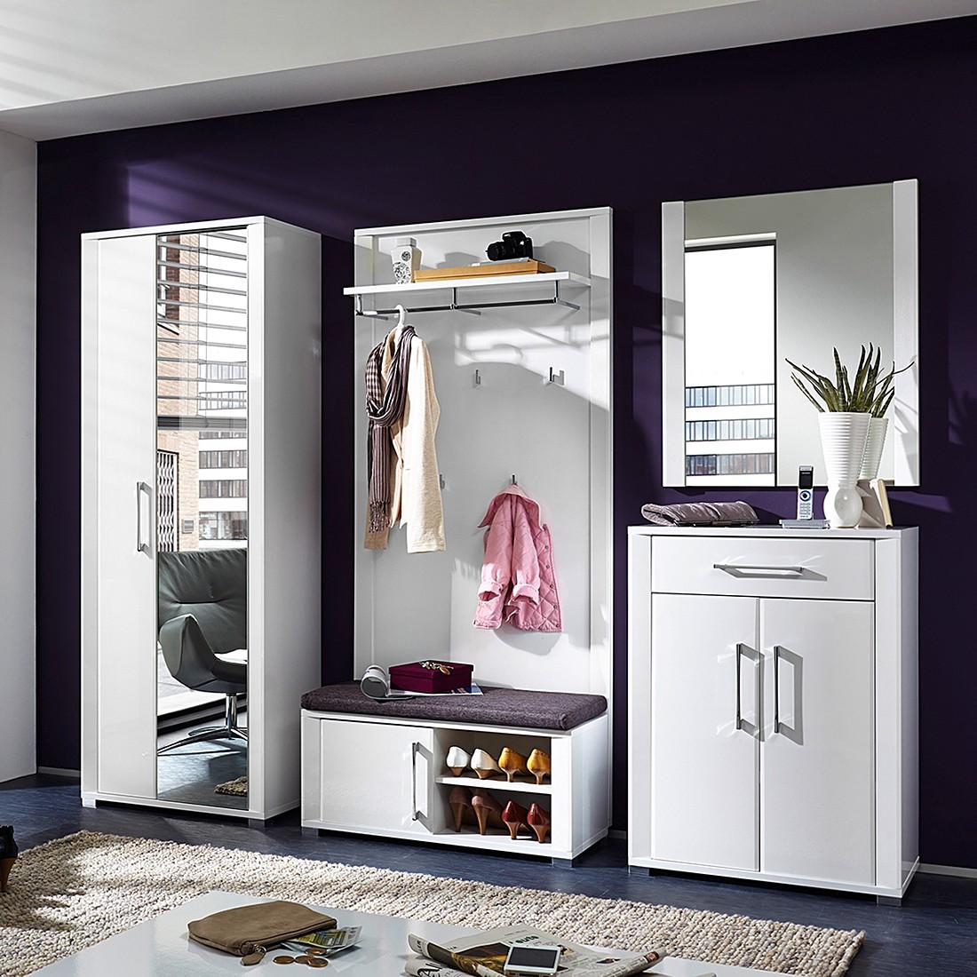 garderobe wei hochglanz preisvergleich die besten. Black Bedroom Furniture Sets. Home Design Ideas