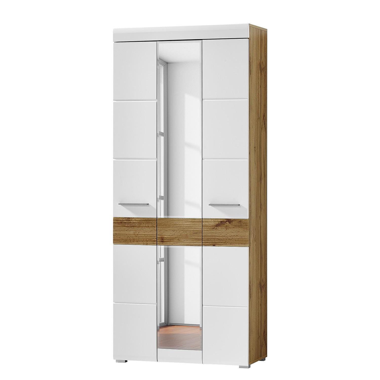 Armoire de vestibule Horda - Blanc mat / Imitation chêne, loftscape