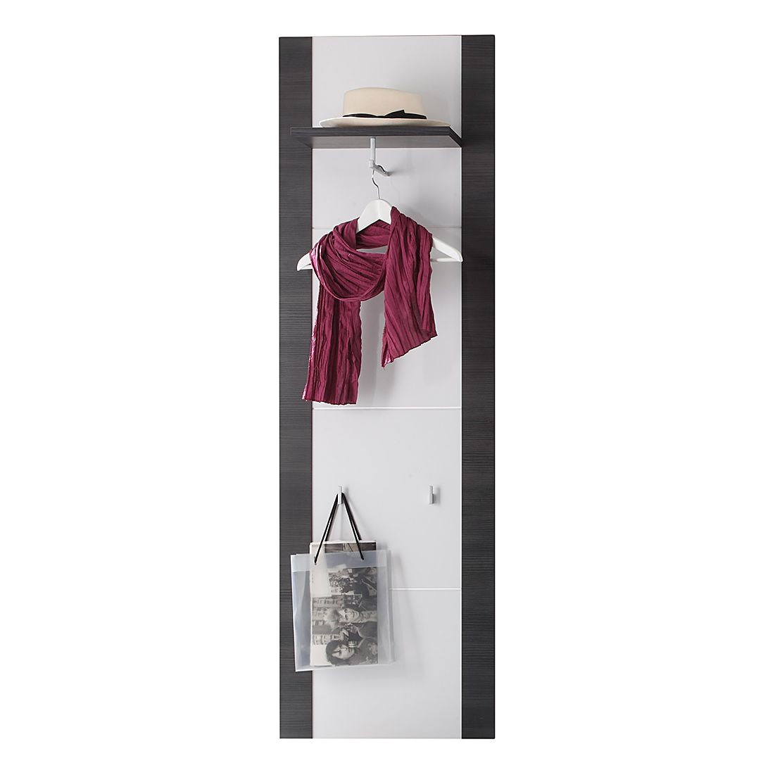 Garderobenpaneel grau for Garderobenpaneel grau
