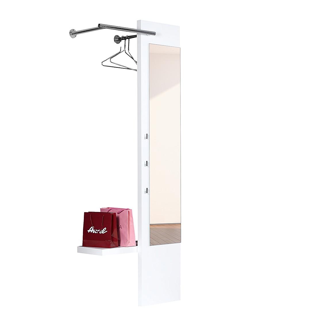 garderobenpaneel wei hochglanz preisvergleich die. Black Bedroom Furniture Sets. Home Design Ideas