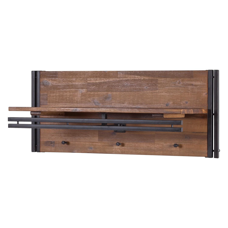 Garderobepaneel Manchester - massief acaciahout/metaal, ars manufacti