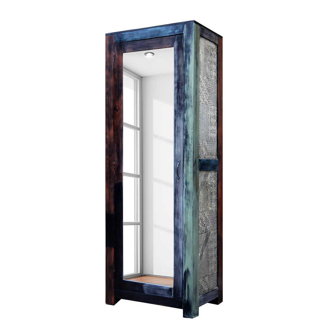 Garderobekast Goa - Bruin, Wolf Möbel
