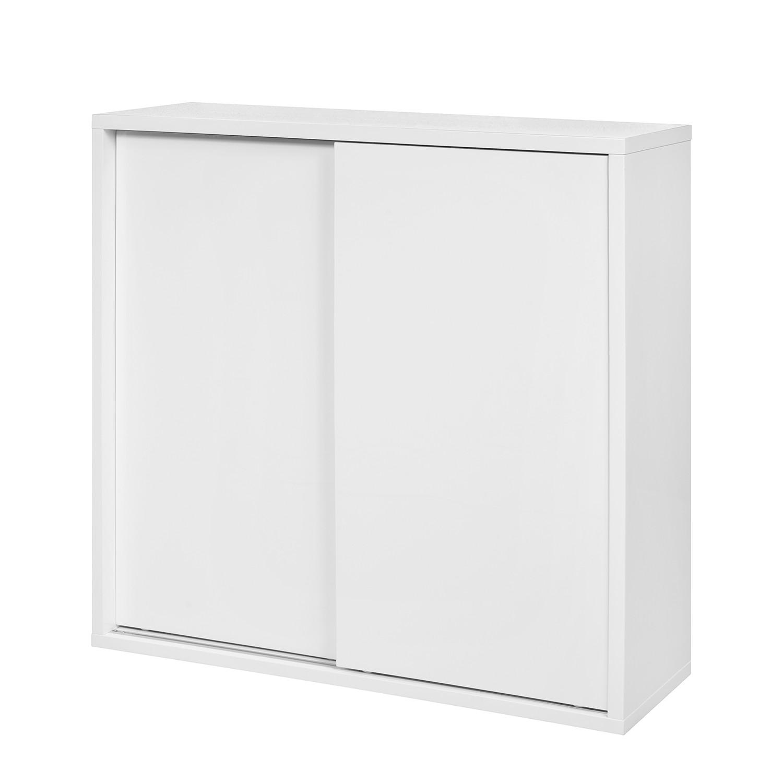 Armoire de vestibule Stiva - Blanc - 100 cm, Fredriks
