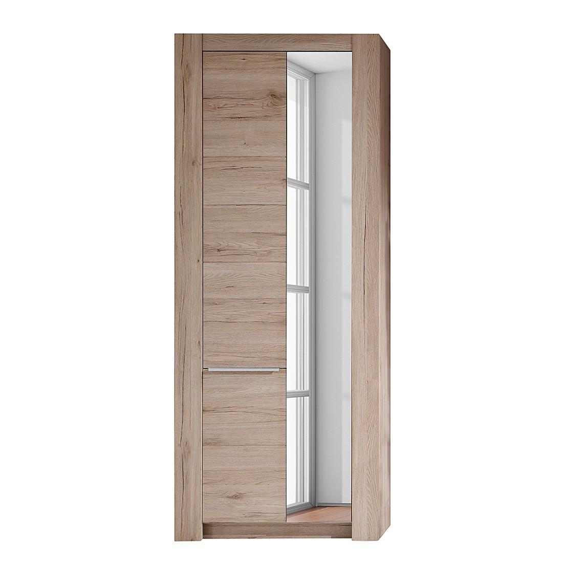 EEK A+, Armoire de vestibule Winburg - Imitation chêne de Sonoma - Avec miroir, Trendteam