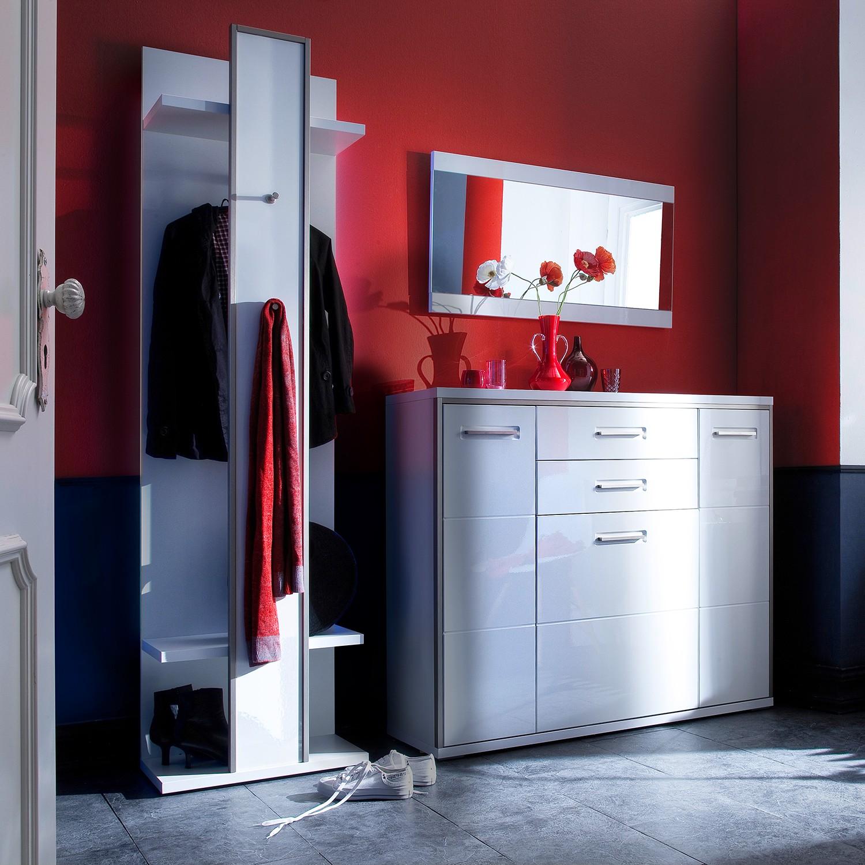 Garderobeset Arco II (3-delige set) - hoogglans wit, loftscape