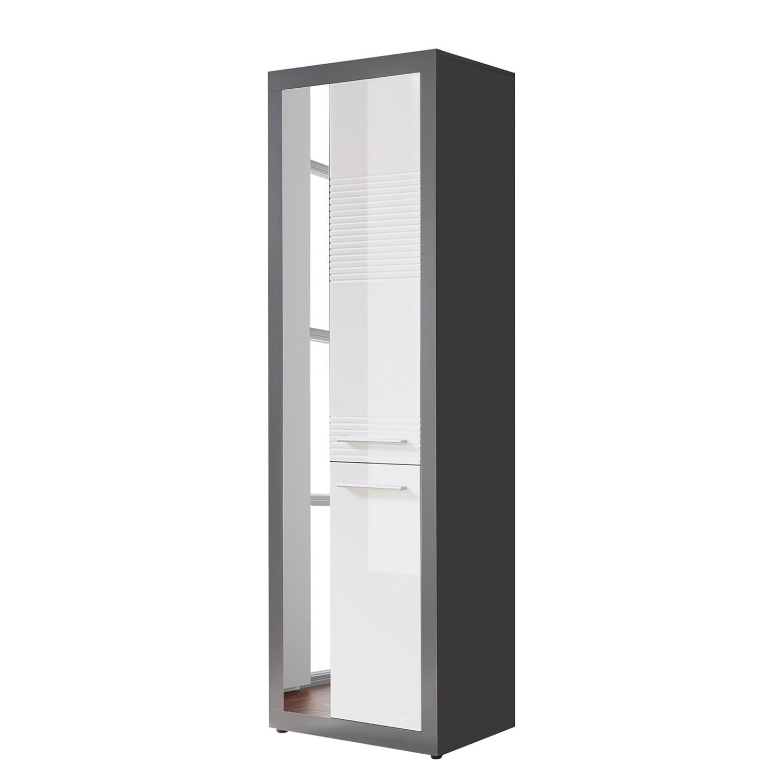 Armoire de vestibule Bettna - Blanc brillant / Anthracite, mooved