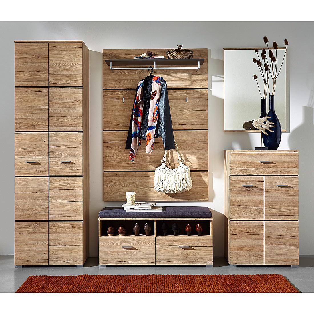 Garderobeset Foresta (5-delige set) - eikenhouten look, Naturoo