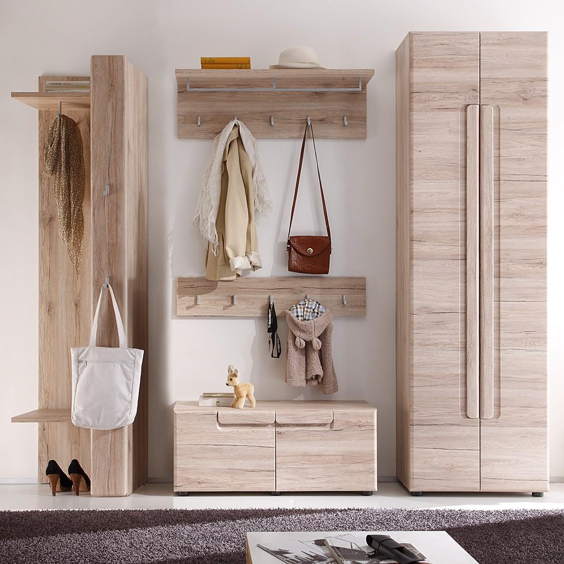 Garderobeset Giba (5-delige set) - San Remo eikenhouten look, Trendteam
