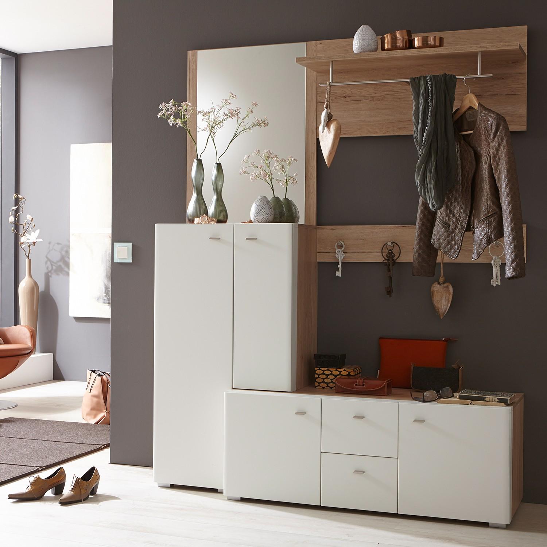 Home 24 - Ensemble de vestibule matino (5 éléments) - imitation chêne san remo / blanc mat, loftscape