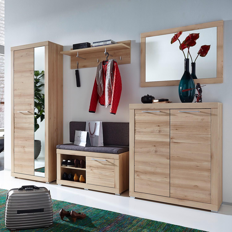 Garderobeset Taledos II (6-delig) - lichte beukenhouten look, roomscape