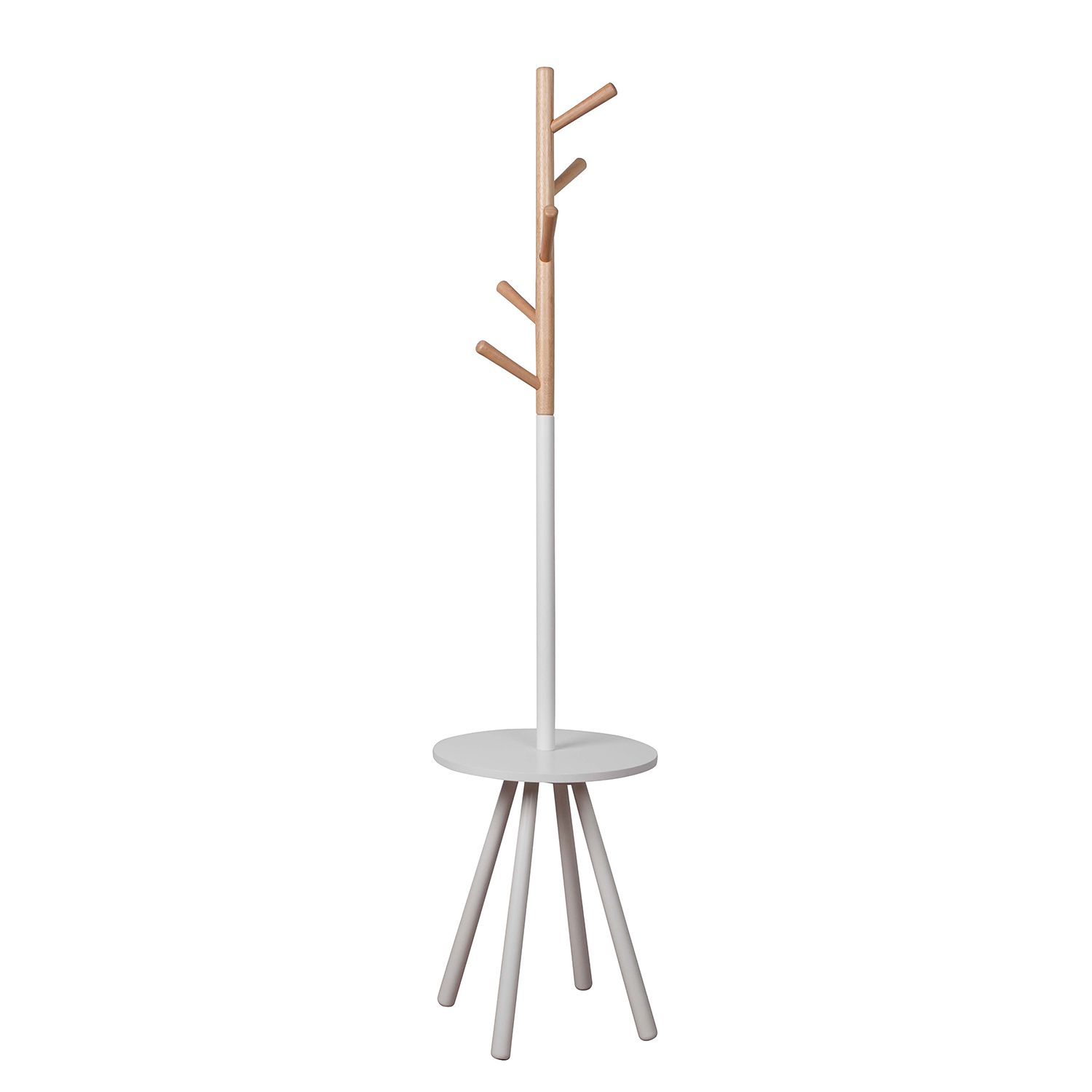 Home 24 - Porte manteau table tree - blanc / beige, zuiver