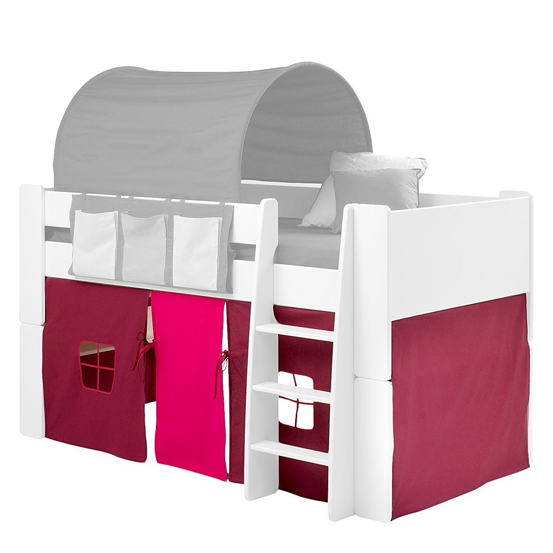 Gordijnenset Steens for Kids - paars/roze, Steens