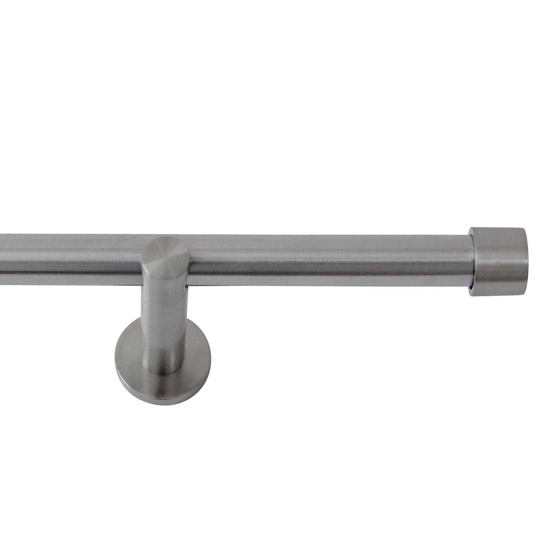 Gordijnroede Perth - staal - mat zilverkleurig, Furnitive