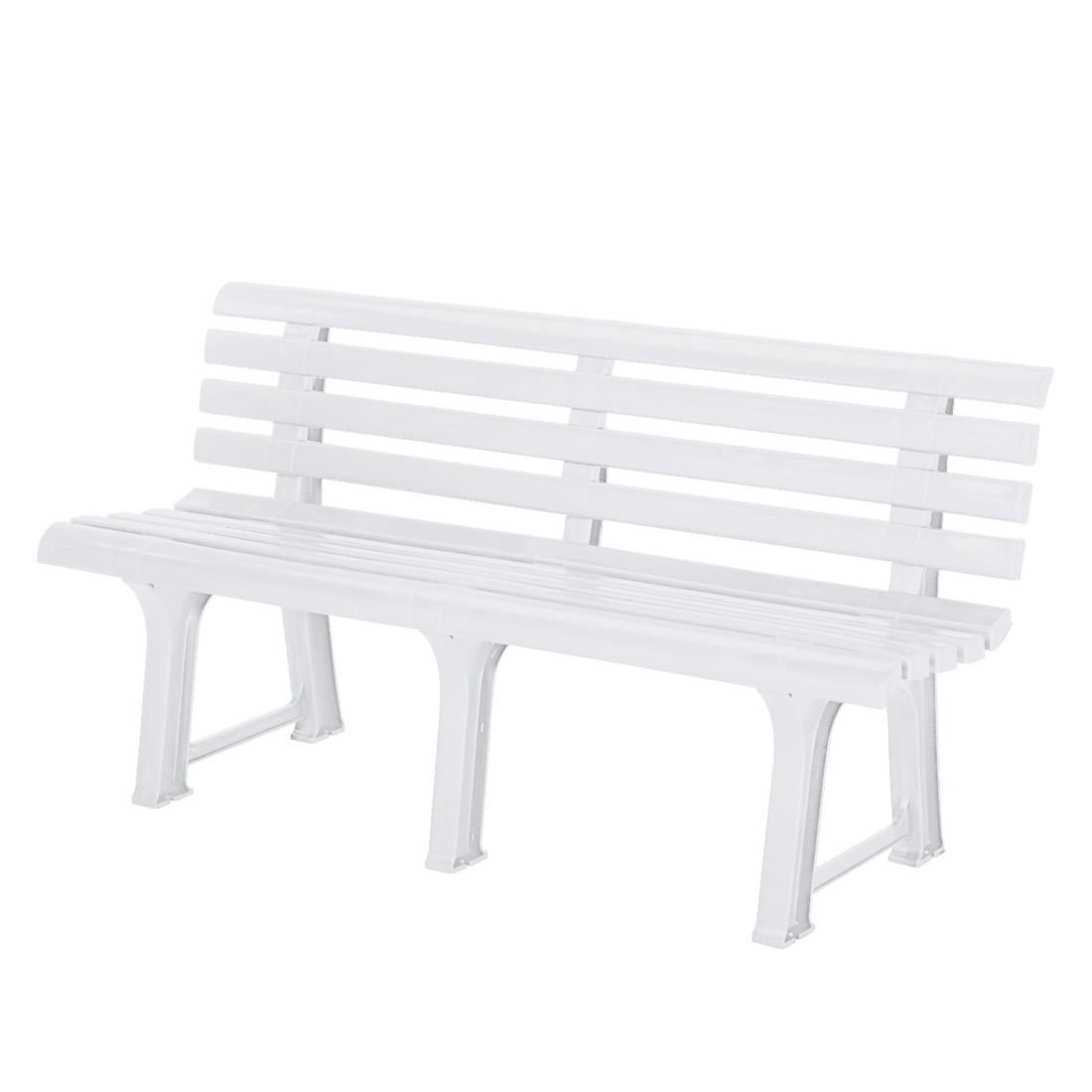 Panca da giardino Bregenz - Materiale plastico bianco sintetico Bianco, Best Freizeitmöbel