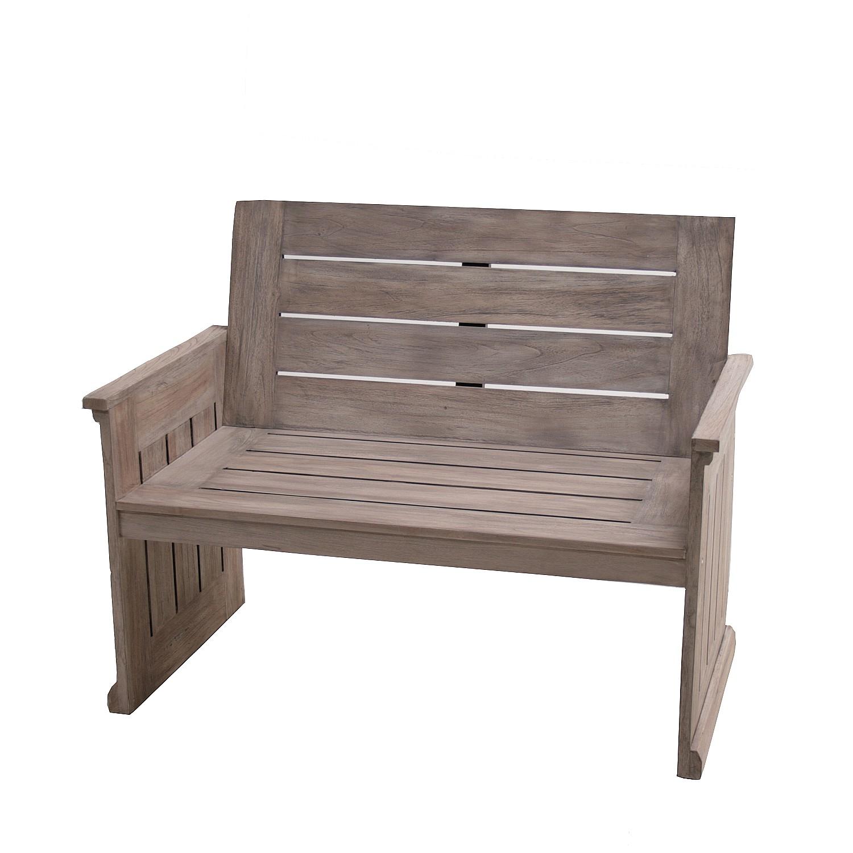 gartenbank klare kante ii teak massiv plo online kaufen. Black Bedroom Furniture Sets. Home Design Ideas