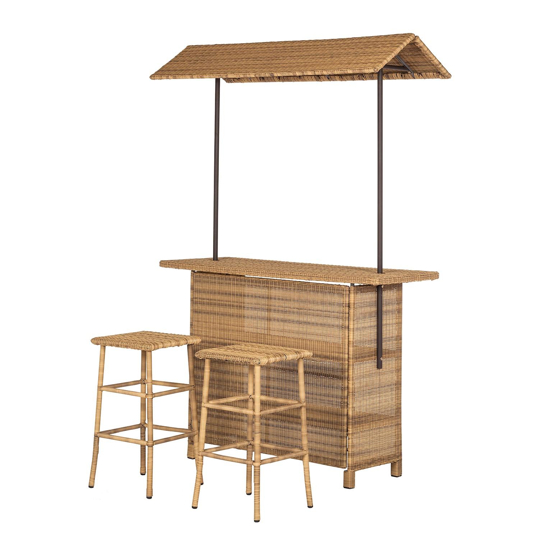 Home 24 - Bar de jardin calla millor (3 éléments) - lloyd loom - marron / beige, maison belfort