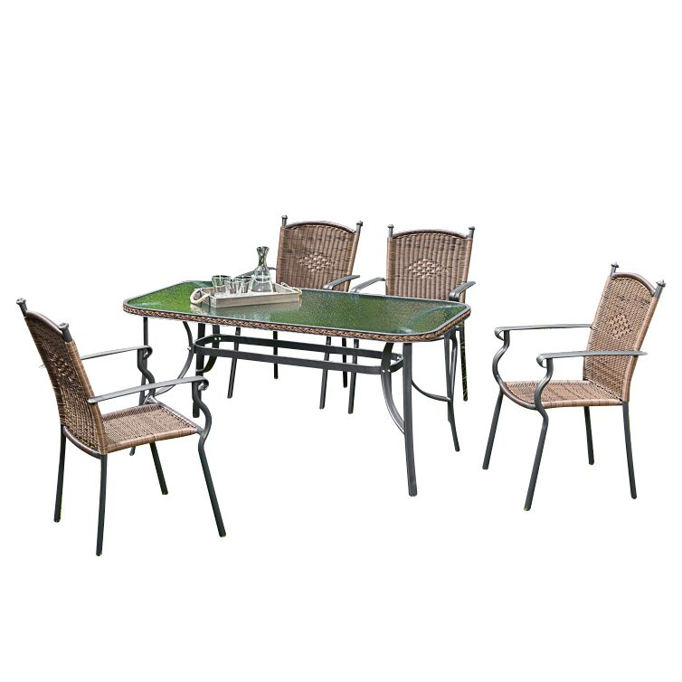 gartenessgruppe roma i 5 teilig aluminium polyrattan merxx g nstig online kaufen. Black Bedroom Furniture Sets. Home Design Ideas