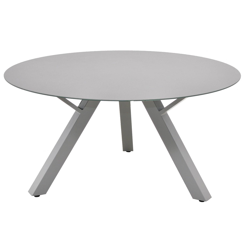 Tavolo da pranzo da giardino Antigua - Alluminio - Grigio chiaro, Ploß