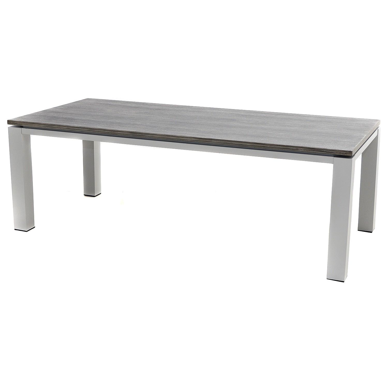 Gartenesstisch Nevis - Kunststoff / Aluminium - Hellgrau, Ploß
