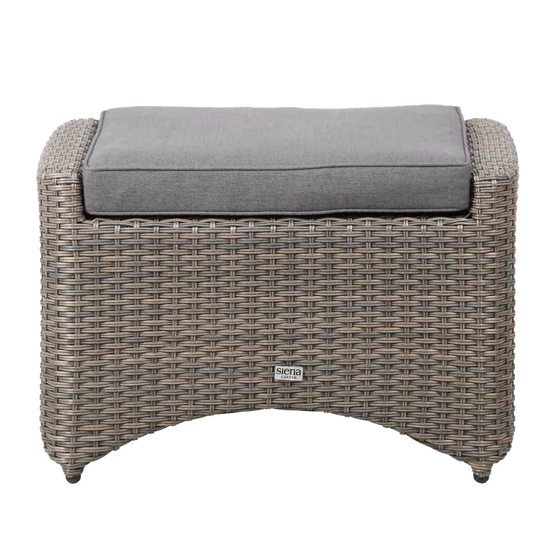 polyrattan hocker grau. Black Bedroom Furniture Sets. Home Design Ideas