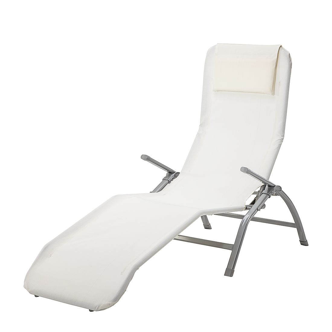 Kippliege Summer Sun - Kunstfasergewebe/Stahl - Weiß/Silber, mooved