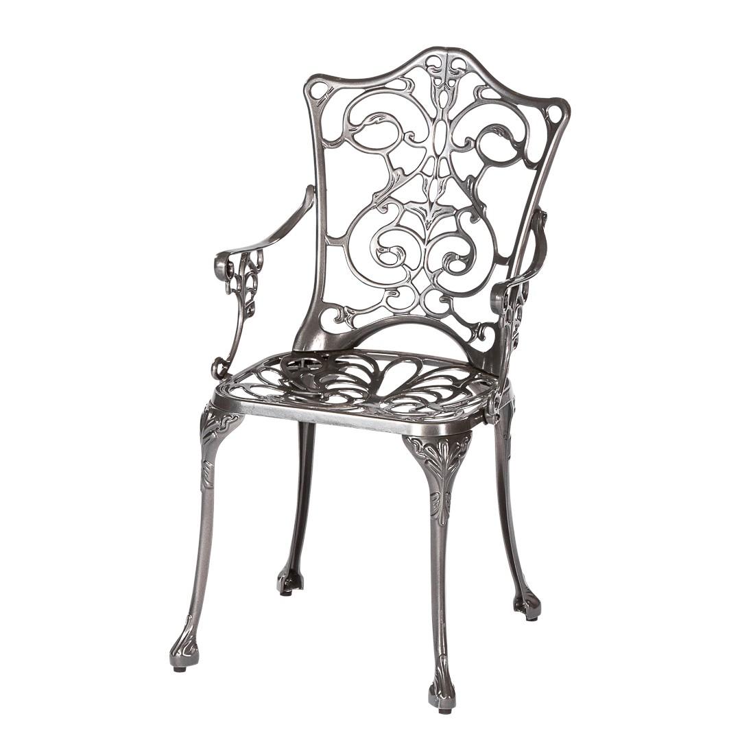 Chaise de jardin Lugano - Acier, Merxx