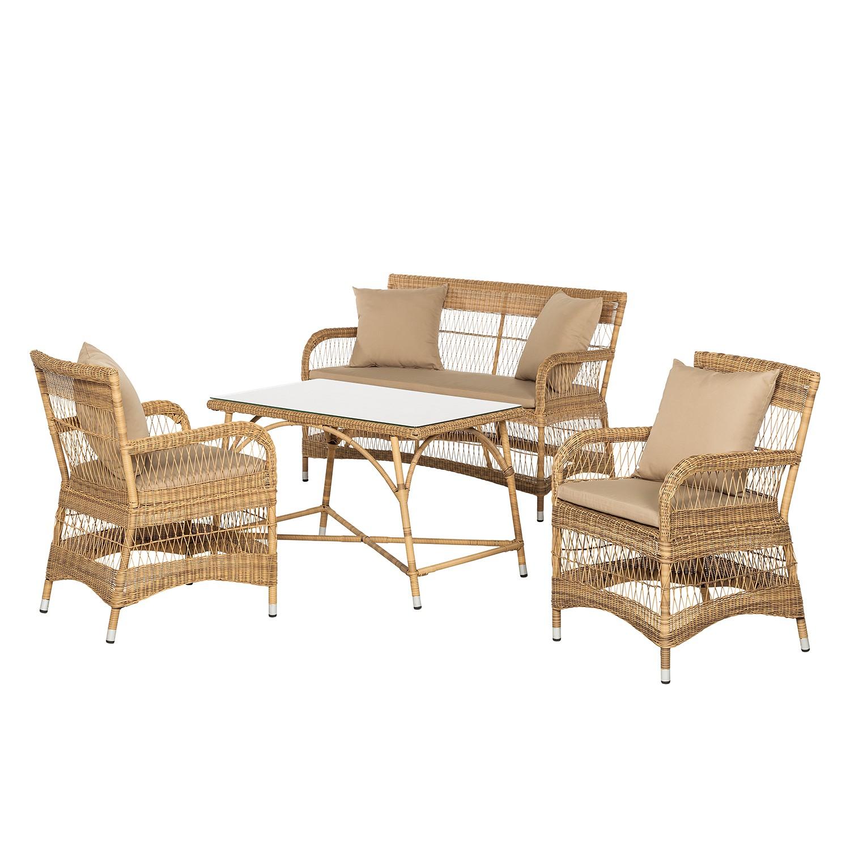Home 24 - Ensemble de sièges de jardin calla millor (4 éléments) - polyrotin, maison belfort