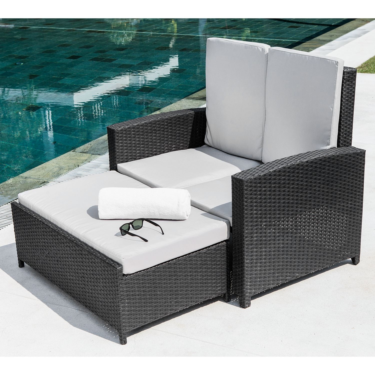 12 sparen gartensofa paradise lounge inkl hocker. Black Bedroom Furniture Sets. Home Design Ideas