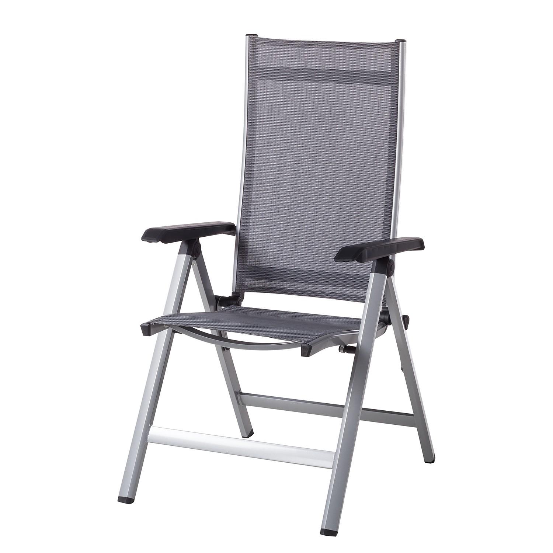 Chaise de jardin Friends I - Aluminium / Fibres synthétiques - Aluminium / Anthracite, Kettler