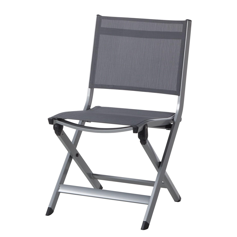 Chaise de jardin Friends III - Aluminium / Fibres synthétiques - Aluminium / Anthracite, Kettler