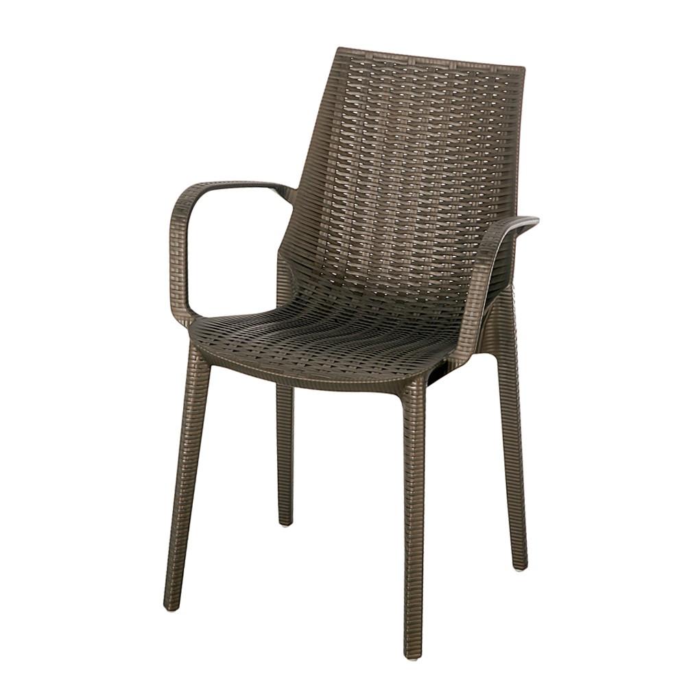 Gartenstuhl Linette - Kunststoff - Bronze, Best Freizeitmöbel