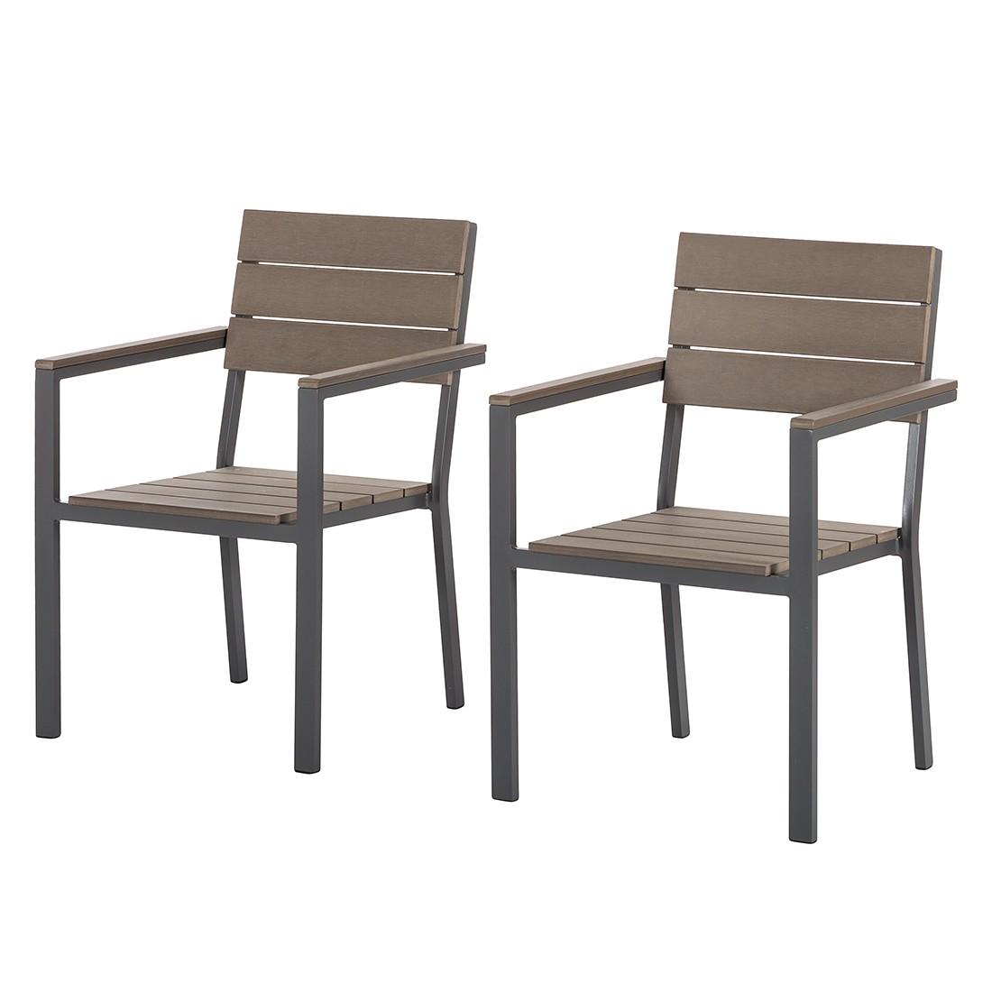Gartenstuhl Kudo II (2er Set)   Aluminium / Polywood, Fredriks