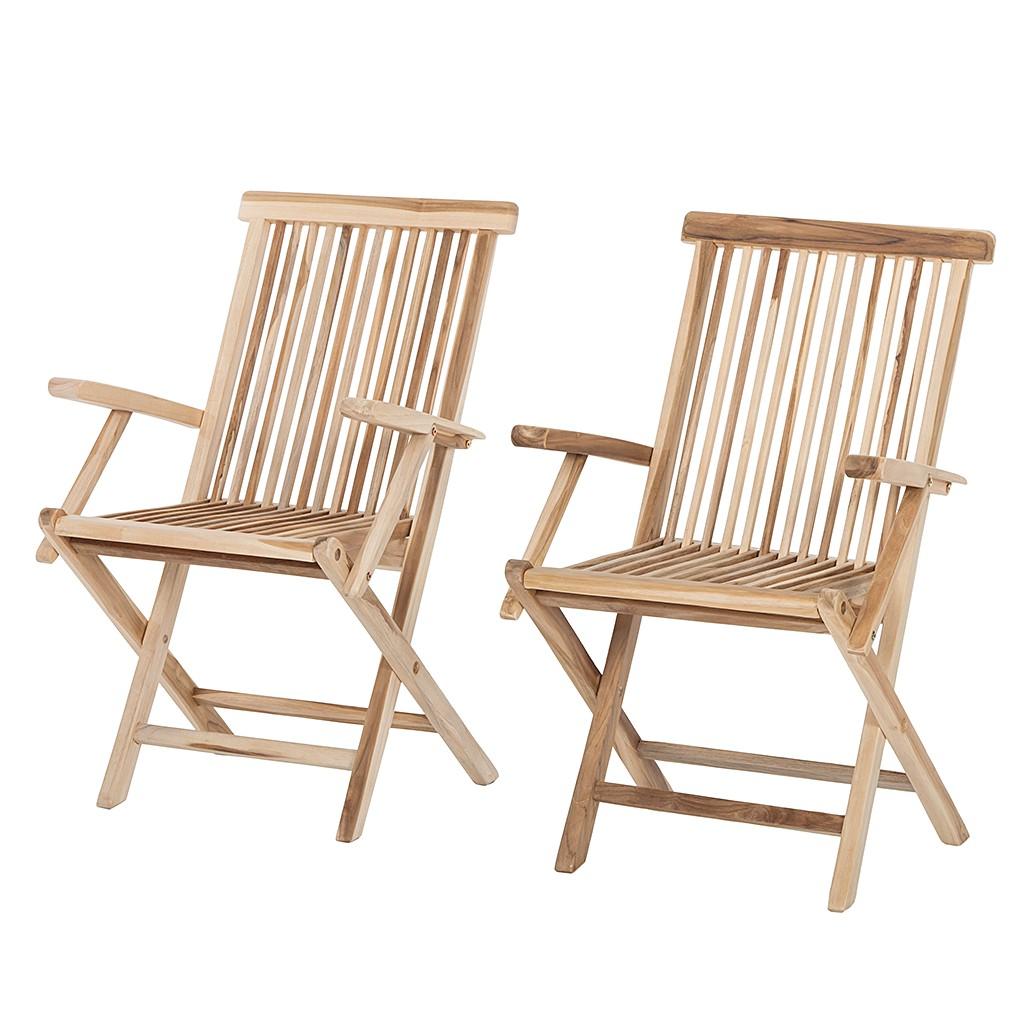 Chaise de jardin Teakline Classic (lot de 2) - Teck massif, Ars Natura