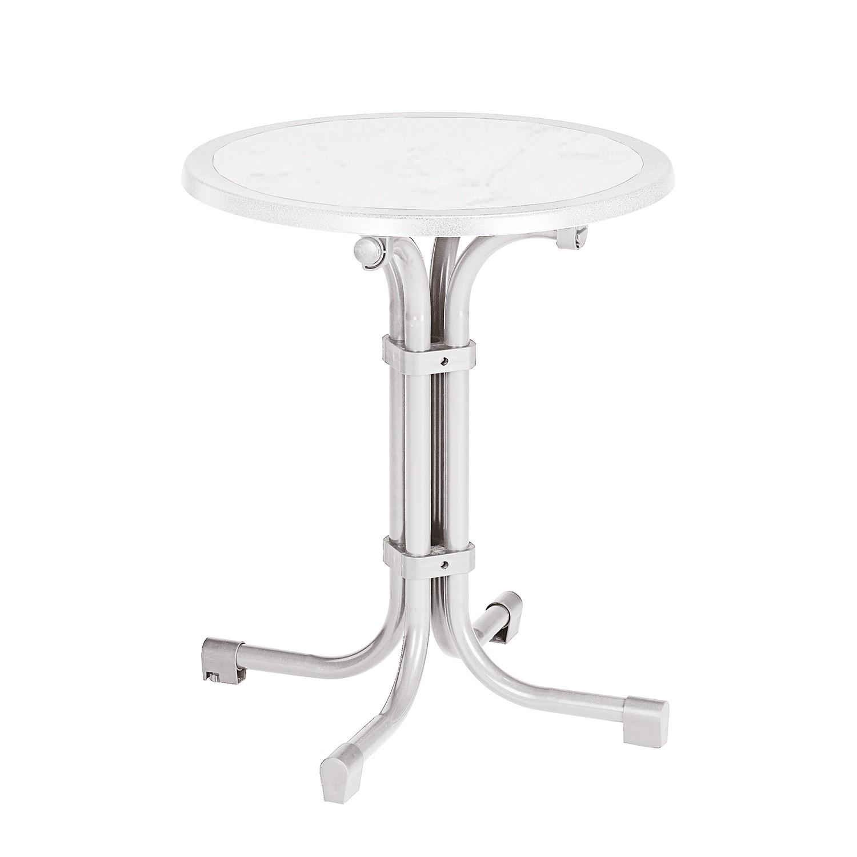 Table de jardin Boulevard (pliable) - Rond (diamètre : 60 cm) - Tube plat / Werzalit - Différents co
