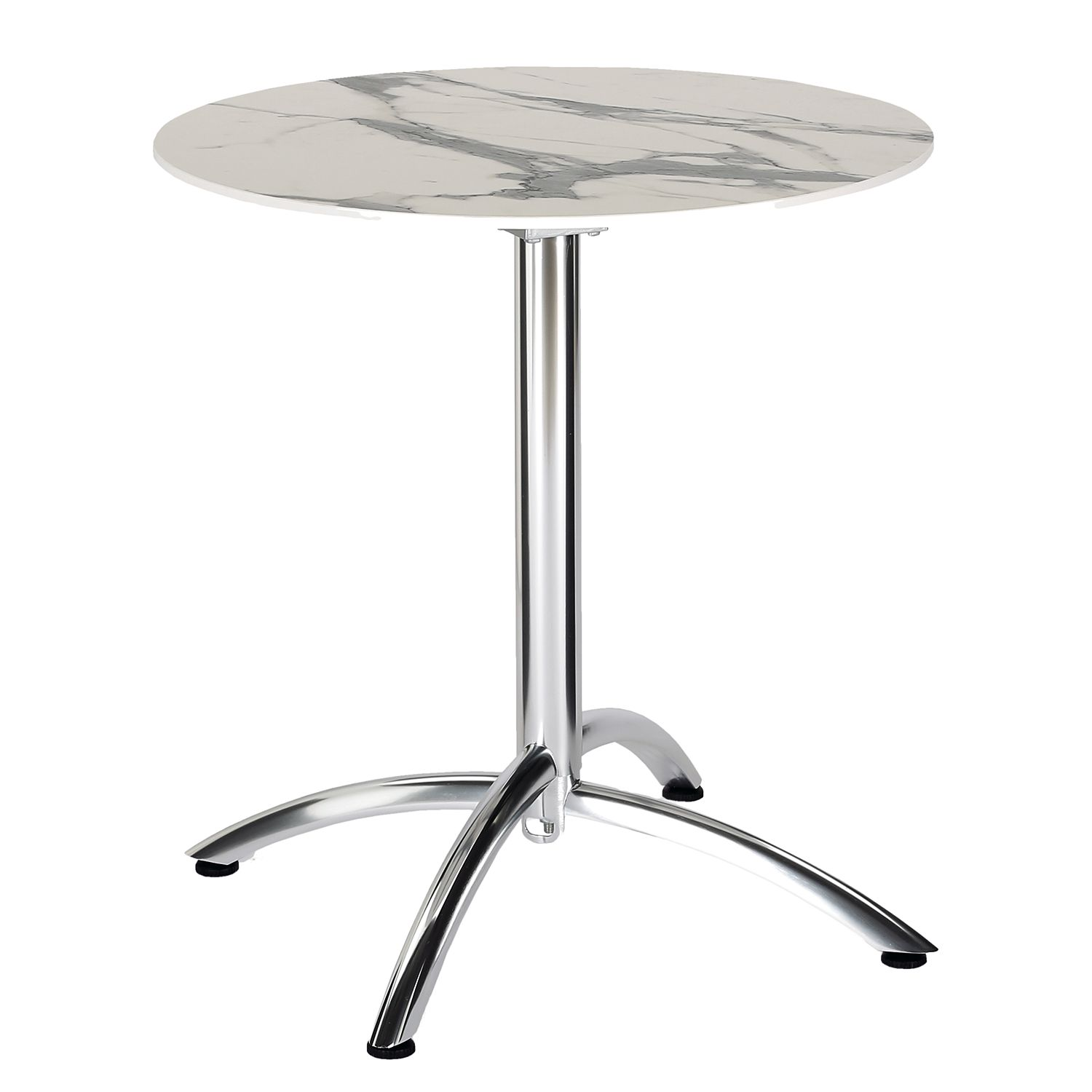 Table de jardin Firenze II - Aluminium - Imitation marbre blanc, Best Freizeitmöbel
