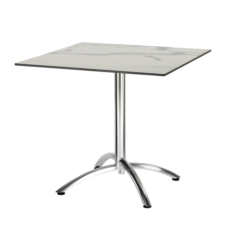 Table de jardin Firenze III - Aluminium - Imitation marbre blanc, Best Freizeitmöbel
