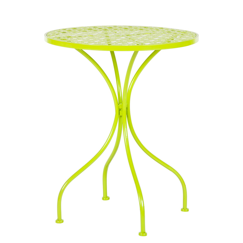 Gartentisch Fleury I - Metall - Hellgrün, mooved