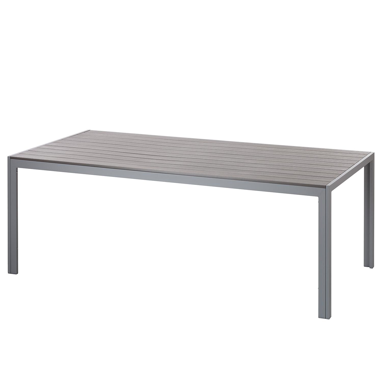 Gartentisch alu 200  Gartentisch Kudo III Polywood Aluminium Grau 200 x 100 cm ...