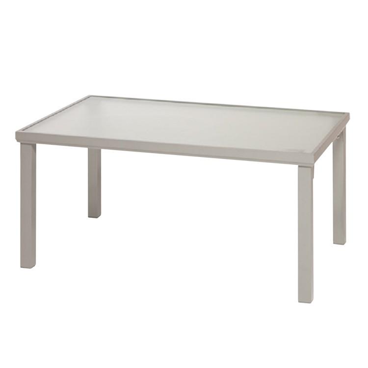 Gartentisch - rechteckig - Aluminium/Milchglas, Merxx