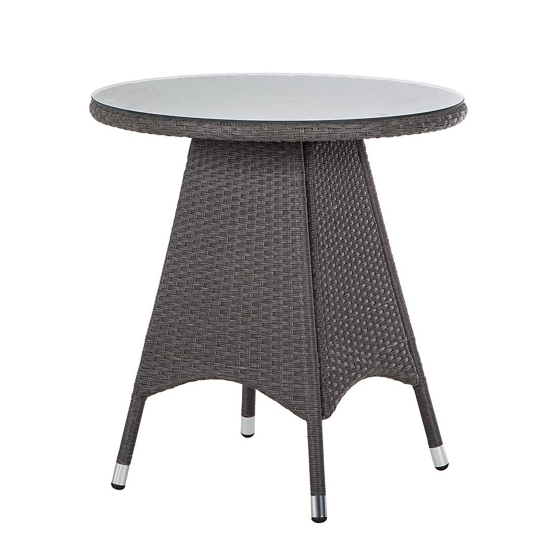 Tavolo da giardino Paradise Lounge I - Polirattan - Grigio, Fredriks