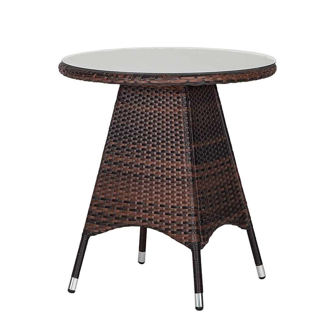 Table de jardin Paradise Lounge - Polyrotin marron, Fredriks