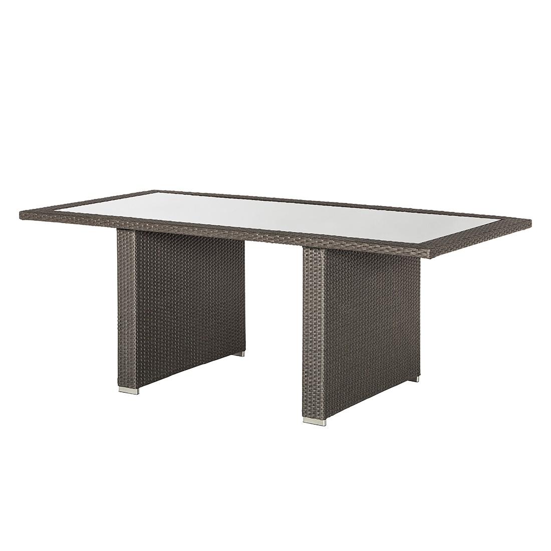 Table de jardin Pavona - Polyrotin gris, Fredriks