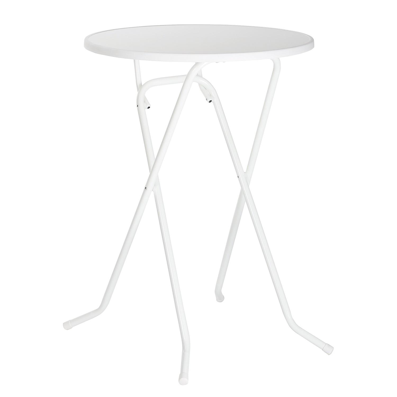 Stehtisch Primo - Kunststoff / Stahl - Weiß, Best Freizeitmöbel